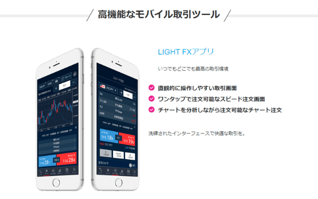 LIGHT FXのアプリの特徴