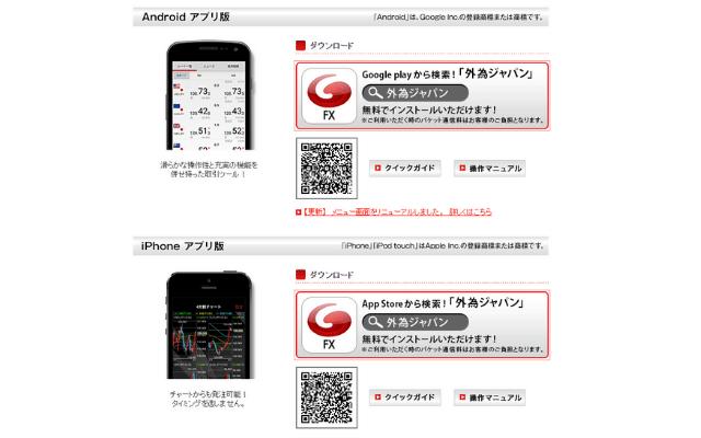 外為ジャパンFXのアプリの特徴